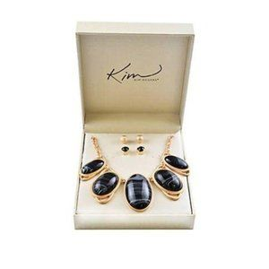 Kim Rogers® Marble Cabochon Necklace & Earrings